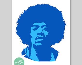 Hendrix Stencil Etsy