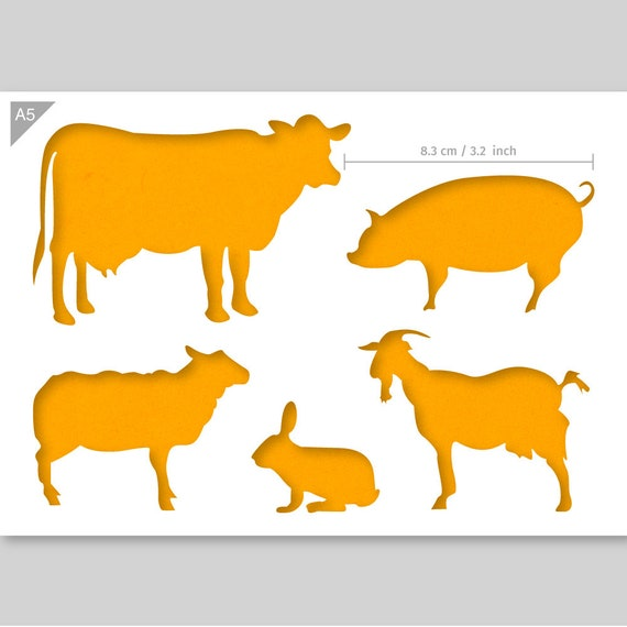A5 Flying Pig Mylar Reusable Stencil Airbrush Painting Art Craft DIY Home Decor