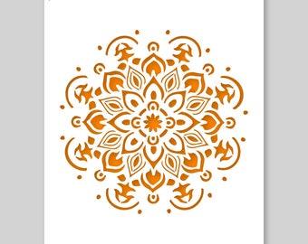 Mandala Stencil - A3 Mandala Stencil for Furniture, Walls, Floors - Mandalas for DIY Home Decor - Mandala Stencil for painting, crafts, arts