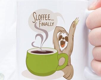 Sloth Mug - Sloth Lover - Funny Sloth Mug - Sloth Mugs - Sloth Cup - Funny Sloth - Sloths -Lazy Spirit Animal -  Spirit Animal Mug