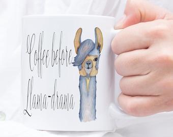 Drama Llama Mug - Llama Lover - Funny Llama Mug - Llama Mugs - Llama Cup - Funny Llama - Llamas -Llama Spirit Animal -  Spirit Animal Mug