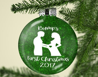 Bumps First Christmas Ornament - Pregnancy Announcement Ornament - Baby Bump Reveal - Pregnant Christmas - Christmas Ornament - Baby 2017