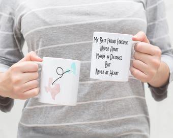 Long Distance Best Friend Mug - Long Distance Mug for Best Friend - Best Friend Long Distance -Long Distance Mug - Distance Coffee Mug
