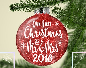 Married Couple First Christmas Ornament - First Christmas Ornament Married - Our First Christmas - Ornament Married - Christmas Newlywed