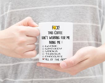 Funny rude saying coffee mug - Fuck coffee mug - Sarcastic Coffee Mug - Rude Coffee Mug - Funny Mugs - Cute Coffee Mug - Fuck Mug