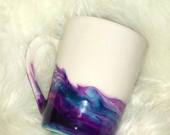 Ink Stain Abstract Coffee Mug - Art Mug - Unique Mug - Gift - Gift For Her