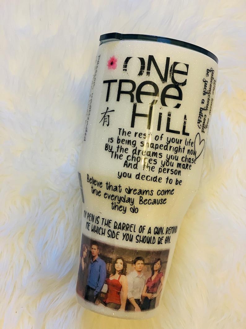 One Tree Hill Glitter Tumbler Solid White Glitter