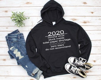 2020 Do Not Recommend shirt, Very Bad Year. Zero Star Rating