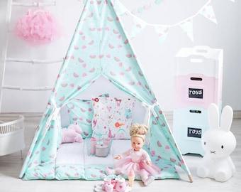 Teepee, Tipi, Tipi Enfant, Tipi Pour Enfant, Kids Teepee, Teepee Tent, Childrens Teepee, Tipi Tent, Teepee With Mat, Teepee Set, Tipi Set
