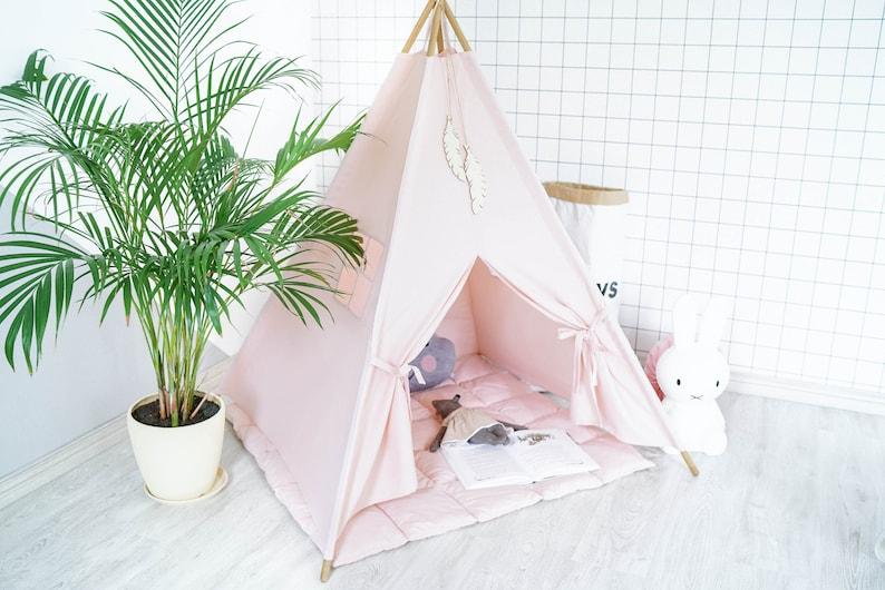 Teepee Tent for Kids Teepee Kids Teepee Teepee Tent Play image 1