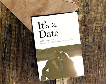 It's A Date - Save The Date / Digital File