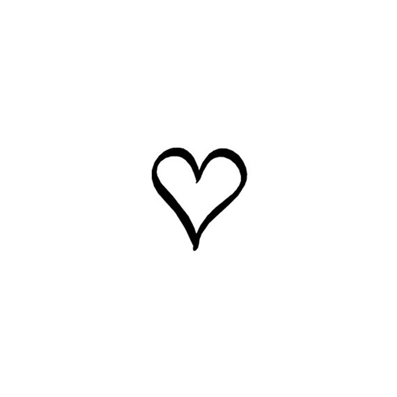EZ Mounted Rubber Stamp Calligraphy Plain Heart Art Craft image 0