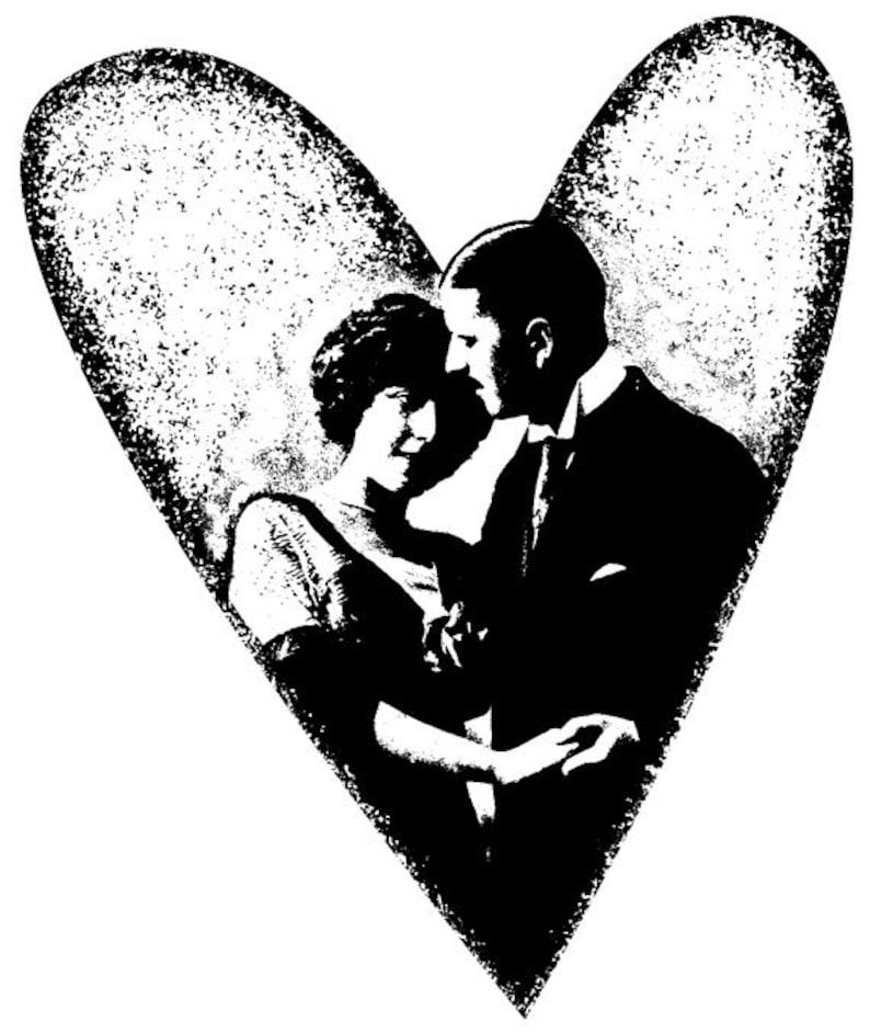 EZ Mounted Rubber Stamp Edwardian 1900s Wedding Couple in image 0
