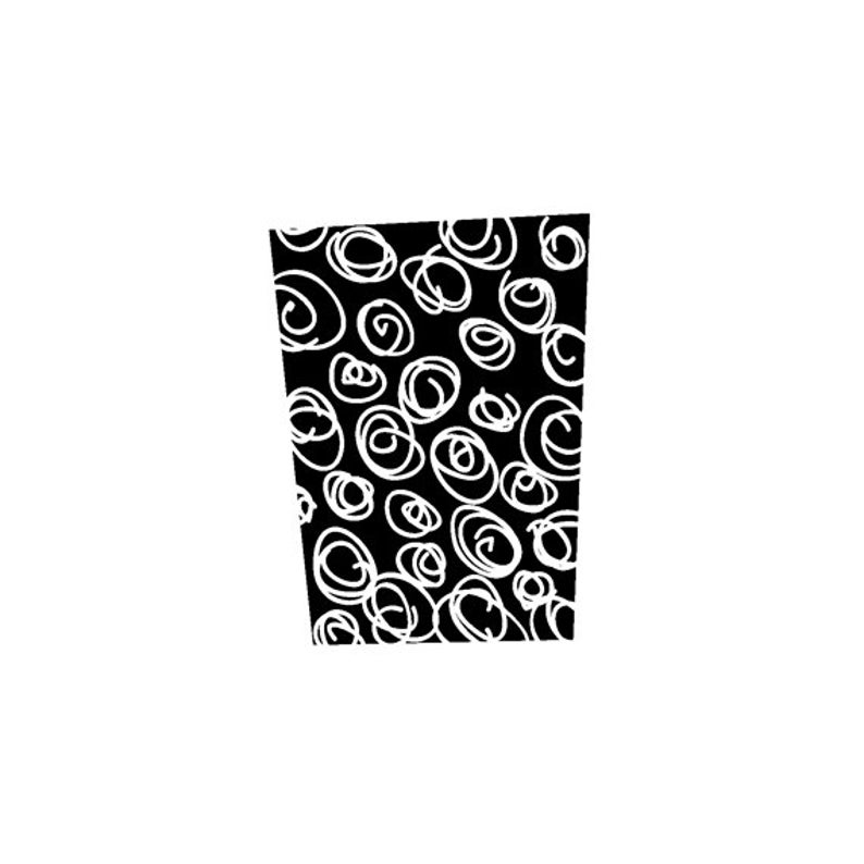 EZ Mounted Rubber Stamp Retro Background with Swirls Altered image 0