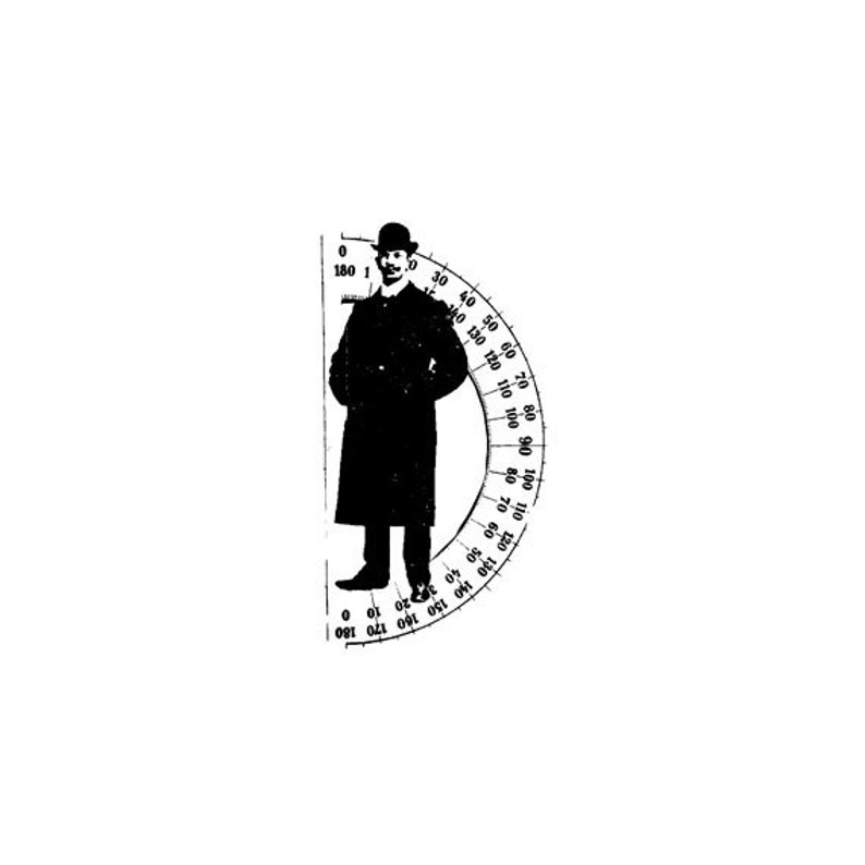 EZ Mounted Rubber Stamp Edwardian Victorian Man with image 0