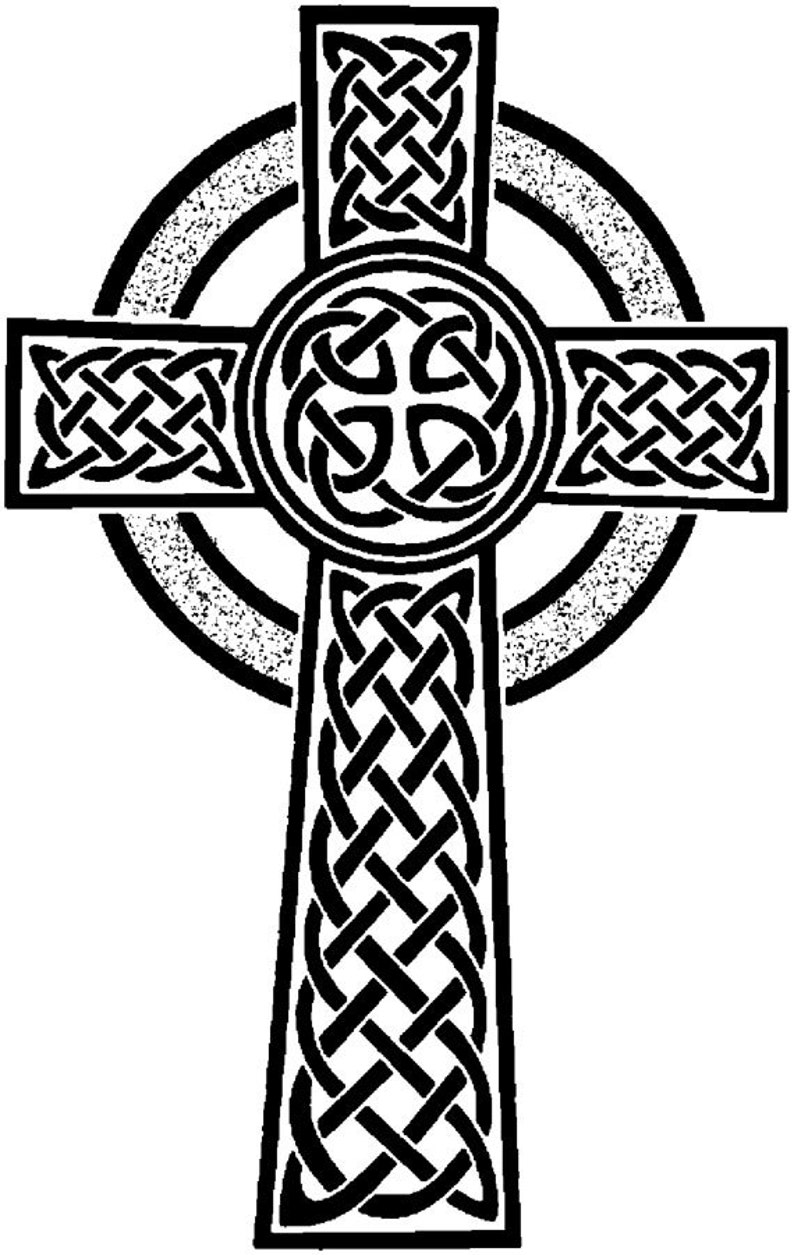 EZ Mounted Rubber Stamp Cross with Celtic Pattern Altered Art image 0