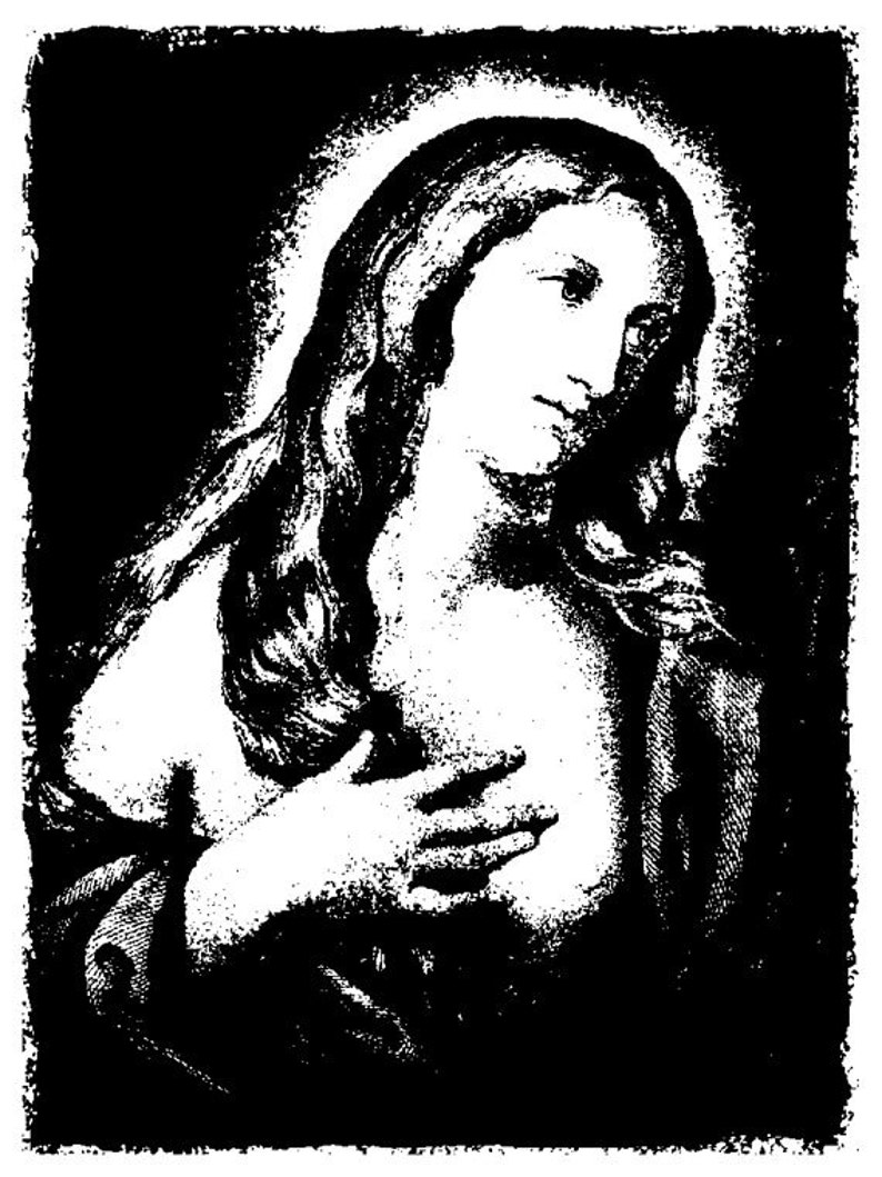 EZ Mounted Rubber Stamp Madonna Icon Altered Art Craft image 0