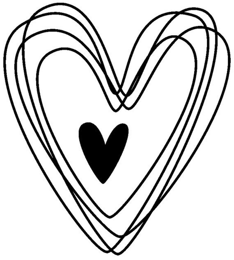 EZ Mounted Rubber Stamp Wedding Hearts Craft Scrapbooking image 0