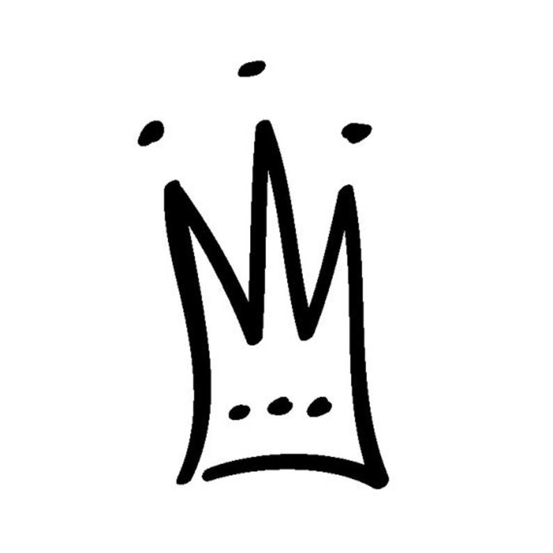 EZ Mounted Rubber Stamp Prince Princess Crown Craft image 0
