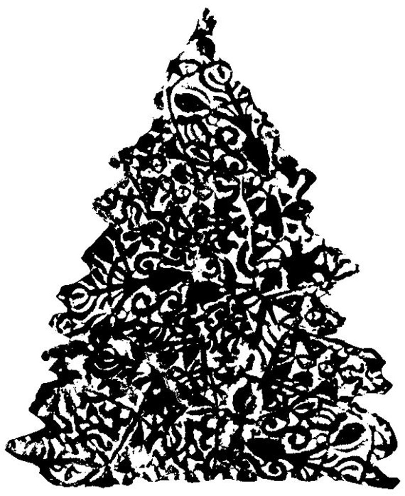 EZ Mounted Rubber Stamp Vintage Style Christmas Three Altered image 0