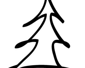 EZ Mounted Rubber Stamp Christmas tree // Julgran // Altered Art Craft Scrapbooking Cardmaking Collage Supply Rubber stamp EZ Mount