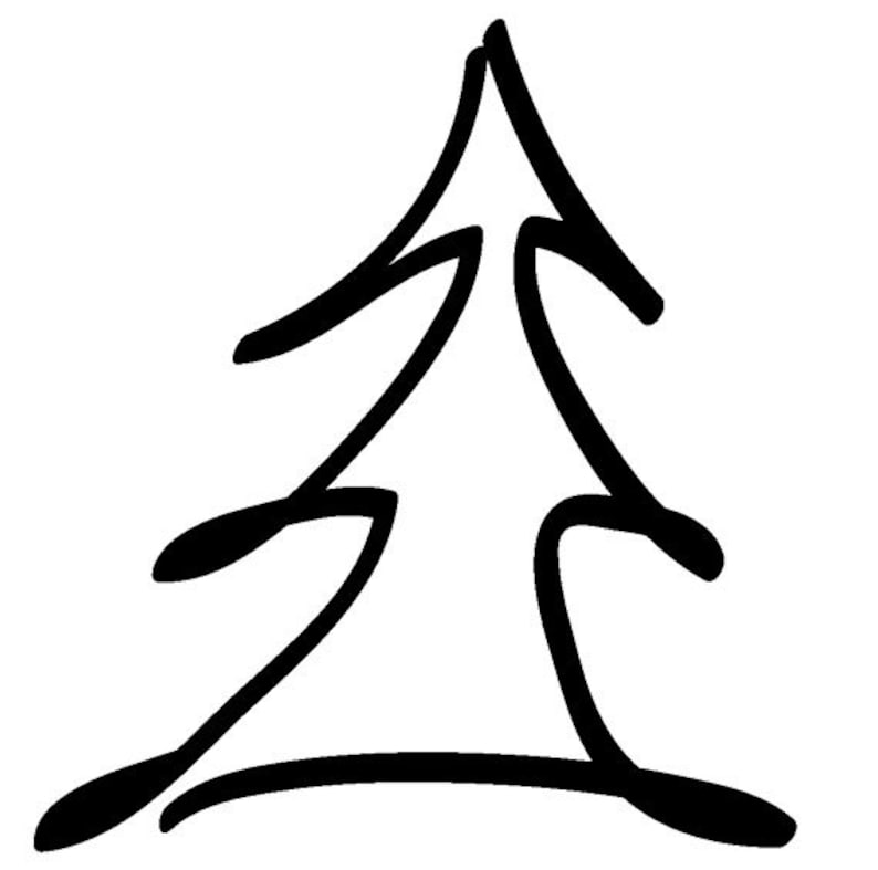 EZ Mounted Rubber Stamp Christmas tree // Julgran // Altered image 0