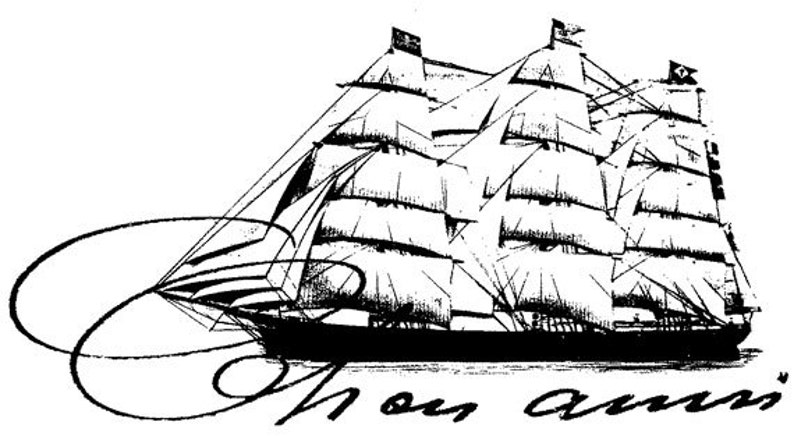 EZ Mounted Rubber Stamp Maritime Old Sailing Ship Cher Ami image 0