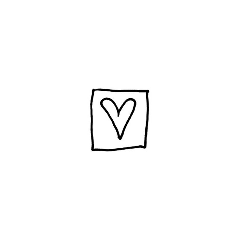 EZ Mounted Rubber Stamp Heart in Square Art Craft Scrapbooking image 0