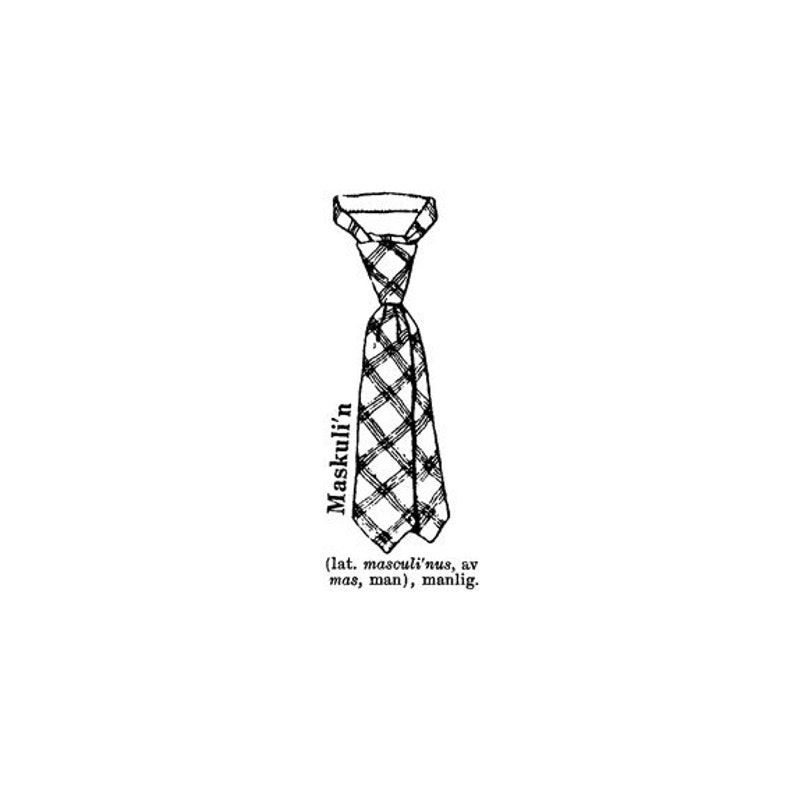 EZ Mounted Rubber Stamp Retro Style Tie Dictionary Text image 0