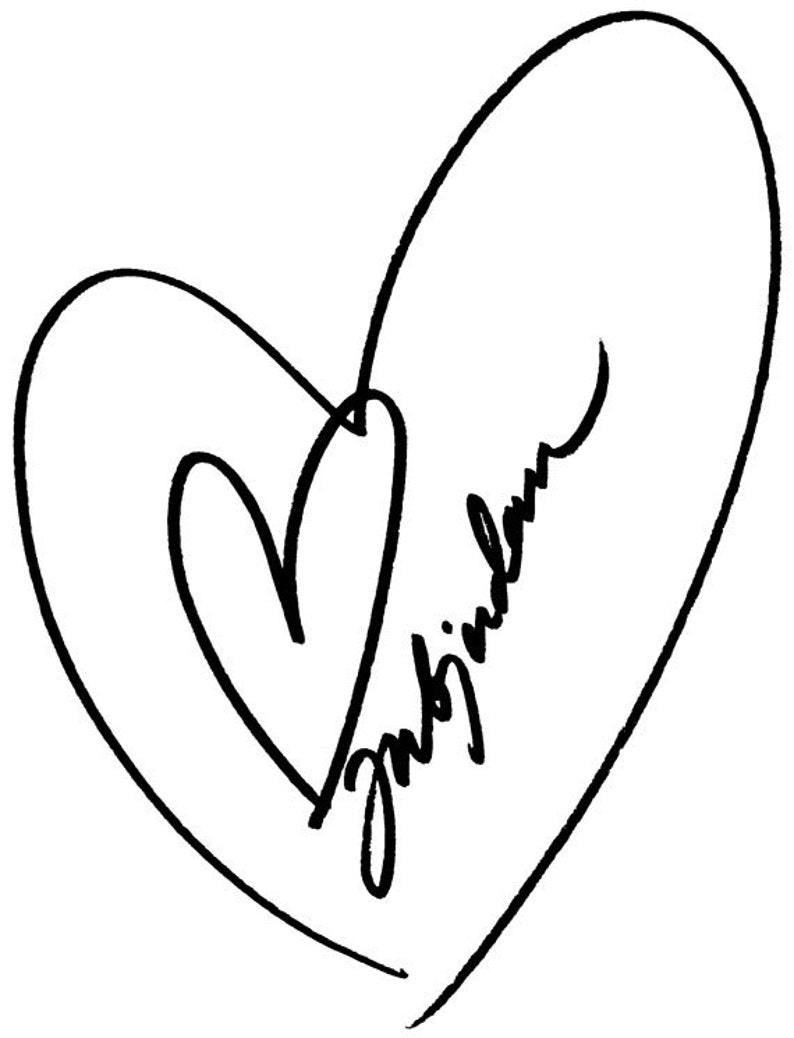 EZ Mounted Rubber Stamp Wedding Hearts // Inbjudan // Craft image 0