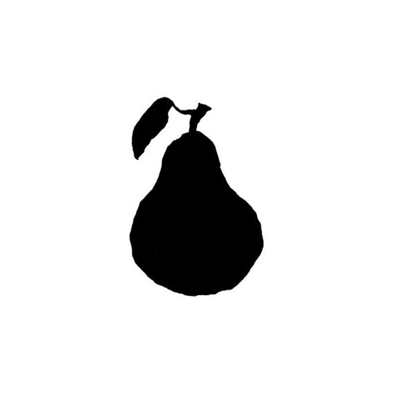 EZ Mounted Rubber Stamp Solid Pear with Leaf Altered Art Craft image 0