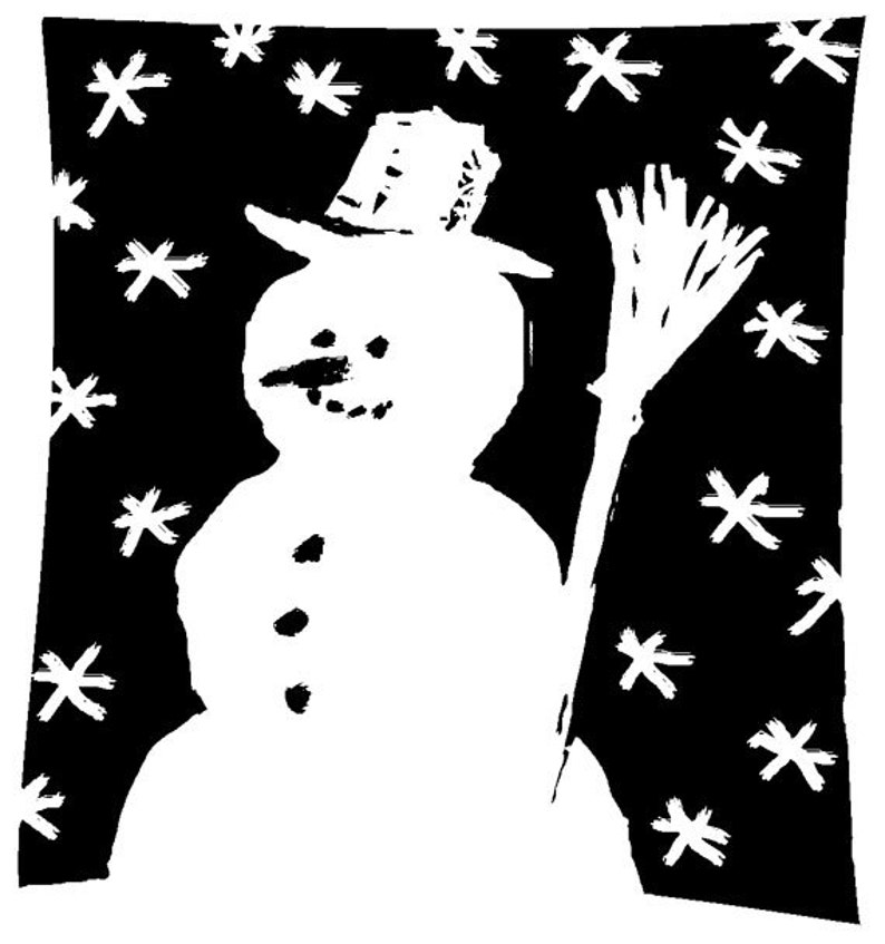 EZ Mounted Rubber Stamp Christmas Winter Snowman // Snögubbe image 0