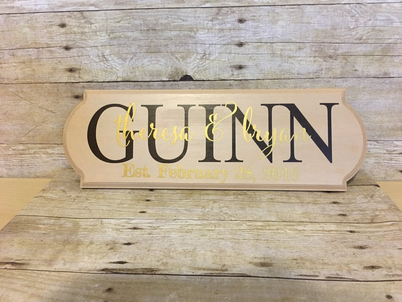 Anniversary Gift Mothers Day Wedding Gift Personalized Family Wood Sign Engagement Gift Last Name Established Sign Bridal Shower