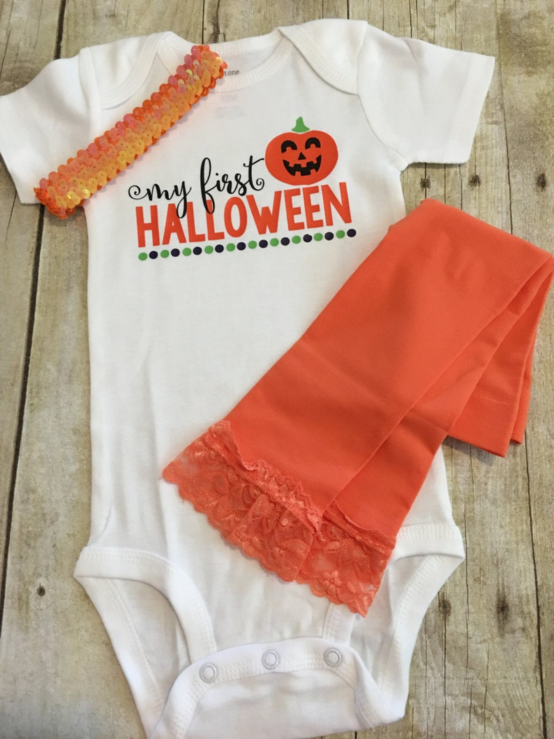 Baby Halloween Outfit Trick or Treat Shirt Pumpkin Shirt My 1st Halloween Outfit My First Halloween Halloween Outfit