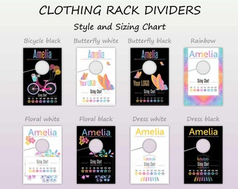 LLR Clothing Rack Dividers Newest Styles * Rack Style Hanging Dividers * Style Divider * Hanger Tags* Style Sizing Charts* HO Approved