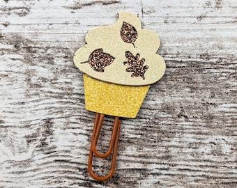 Fall Cupcake Planner Clip - Cupcake Planner Clip - Cupcake PlannerClip- Cupcake Bookmark - Fall Planner Clip
