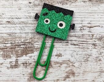 Frank / Frankie Planner Clip - Monster Paper Clip - Halloween Paperclip