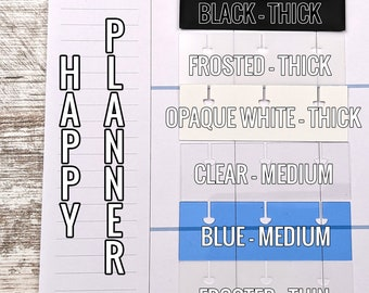 Tabs for Happy Planner Discs - HP Accessories - Planner Attachment - Snap in Happy Planner Tab