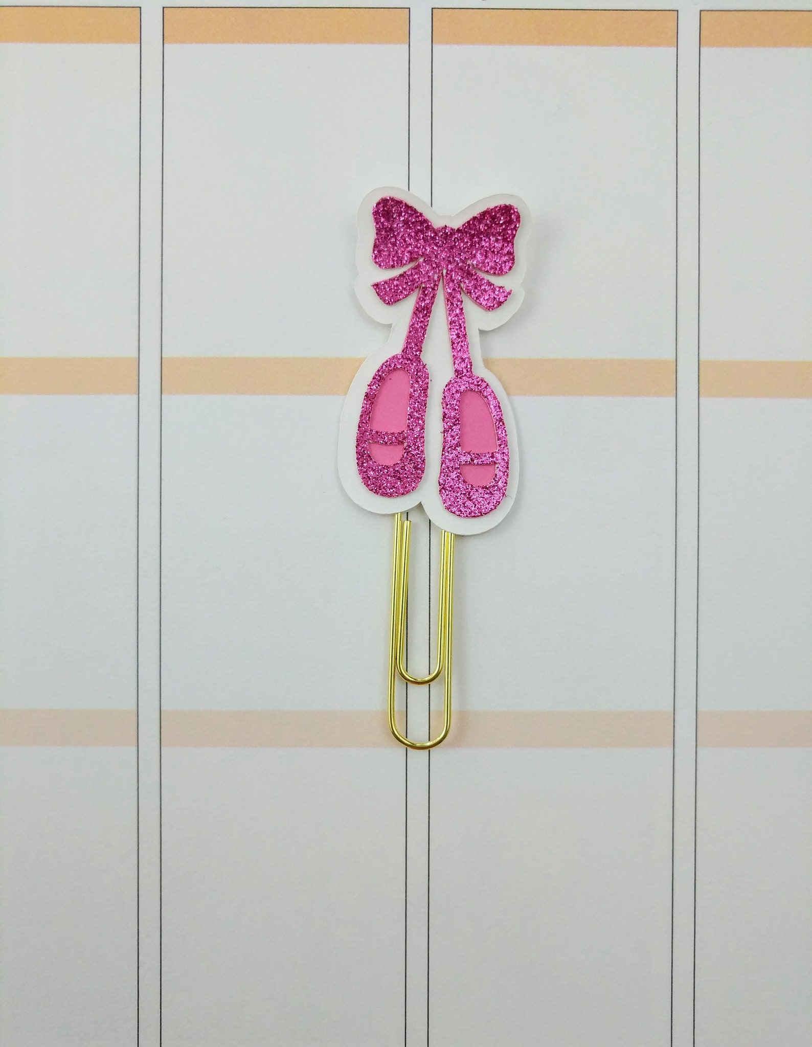 ballet shoes planner clip- ballet planner clip- ballet bookmark- ballet clip- pink planner clip- girl planner clip