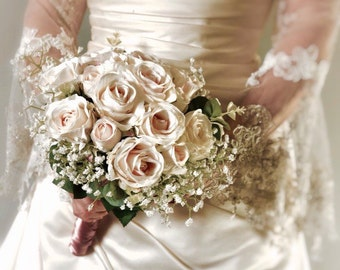 Silk Artificial Bridal and Bridesmaid Bouquets
