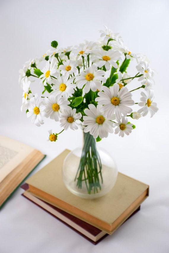 Daisy bouquet of flowers flower arrangements white flower etsy image 0 mightylinksfo