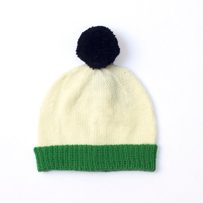 5fce7eb0575 Knitted hat green knitted beanie. British Wool Sizes 0 5