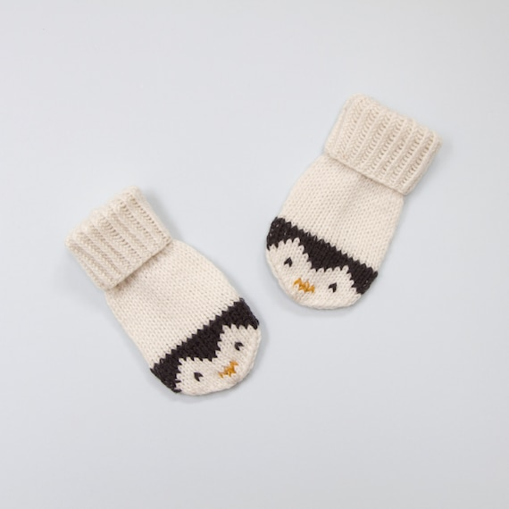 Baby and Toddler Mittens Knitting Pattern. Penguin Mittens | Etsy