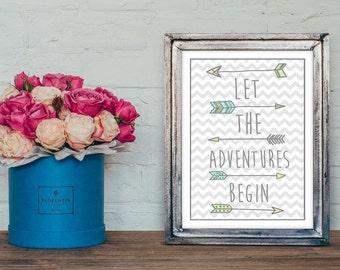Nursery wall art - inspirational print  -christening gift -new baby gift -