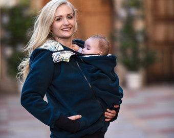 GoFuture\u00ae  Baby carrying jacket Baby carrying hoodie Kangaroo VIVA baby wearing jacket for Mum and Baby handmade with love  by GoFuture