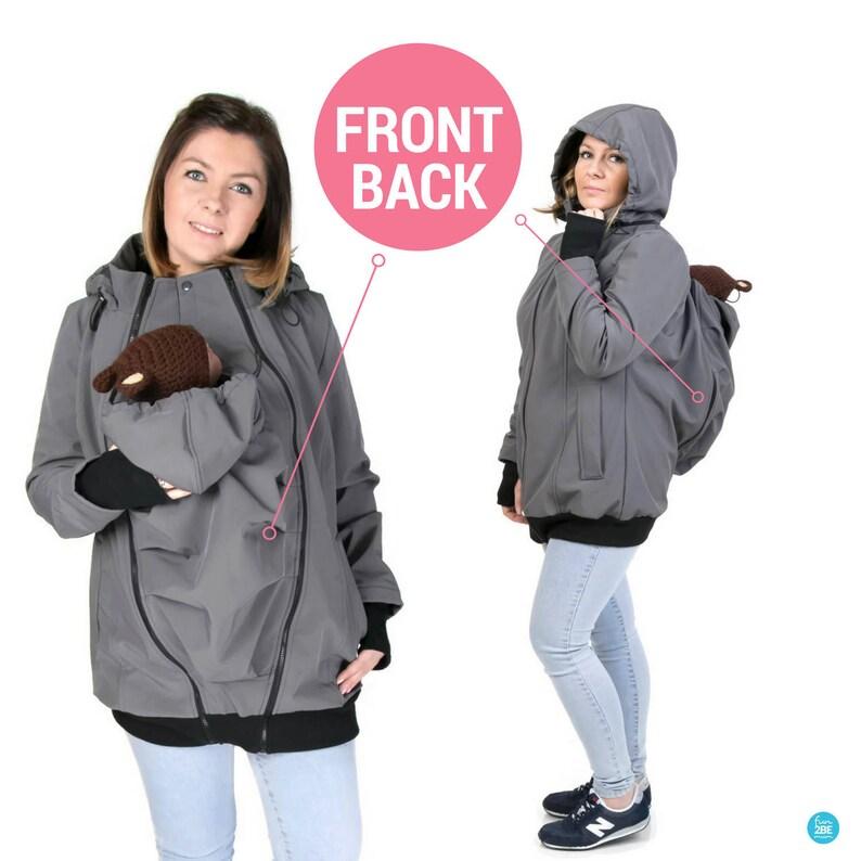 9362cac1d6255 BACK/FRONT Softshell Babywearing jacket maternity coat | Etsy