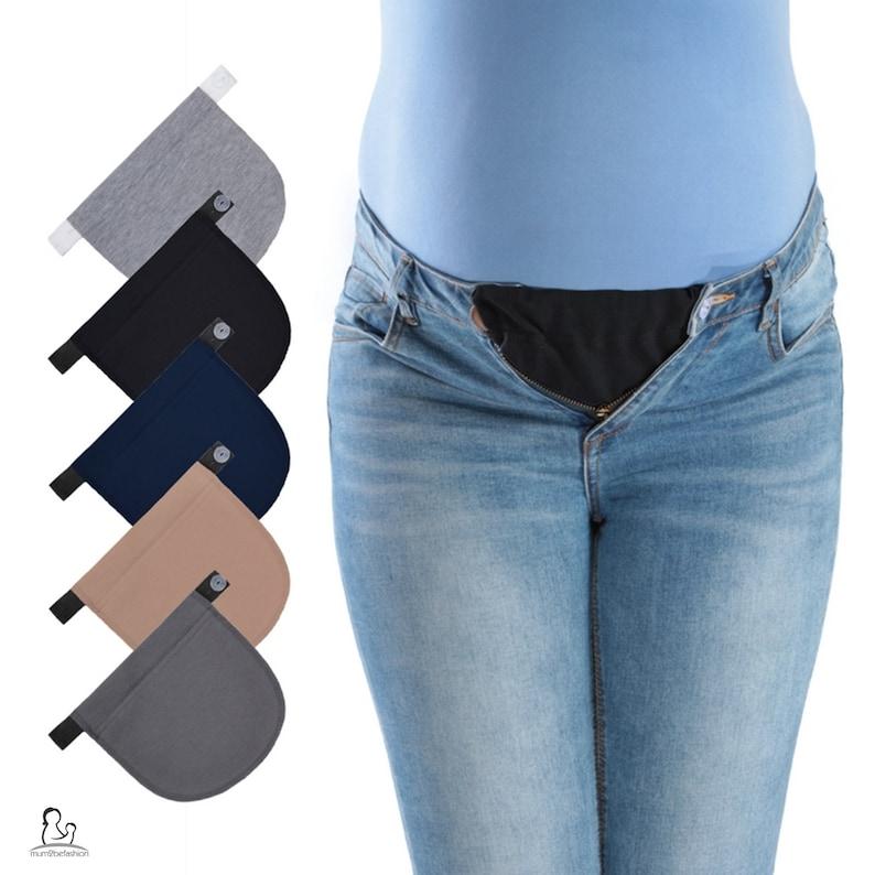 a9ec5248c6f81 Set of 3 Maternity Pregnancy Adjustable Waist Jeans Trousers | Etsy