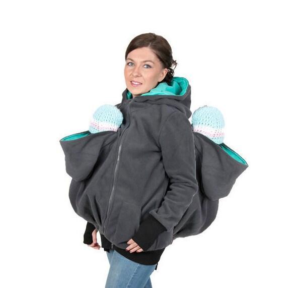 99c9072bc998 GEMINI 3 en 1 portage veste sweat à capuche bébé jumeaux   Etsy