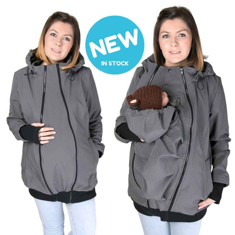 0aaf3006a55c1 NEW Softshell Babywearing jacket maternity coat carrier | Etsy