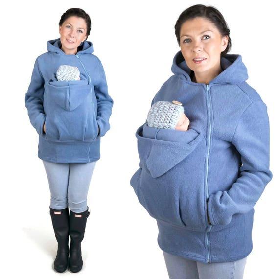 Express GoFuture\u00ae  Baby carrying jacket Baby carrying hoodie Kangaroo VIVA baby wearing jacket for Mum Dad handmade with love  by GoFuture